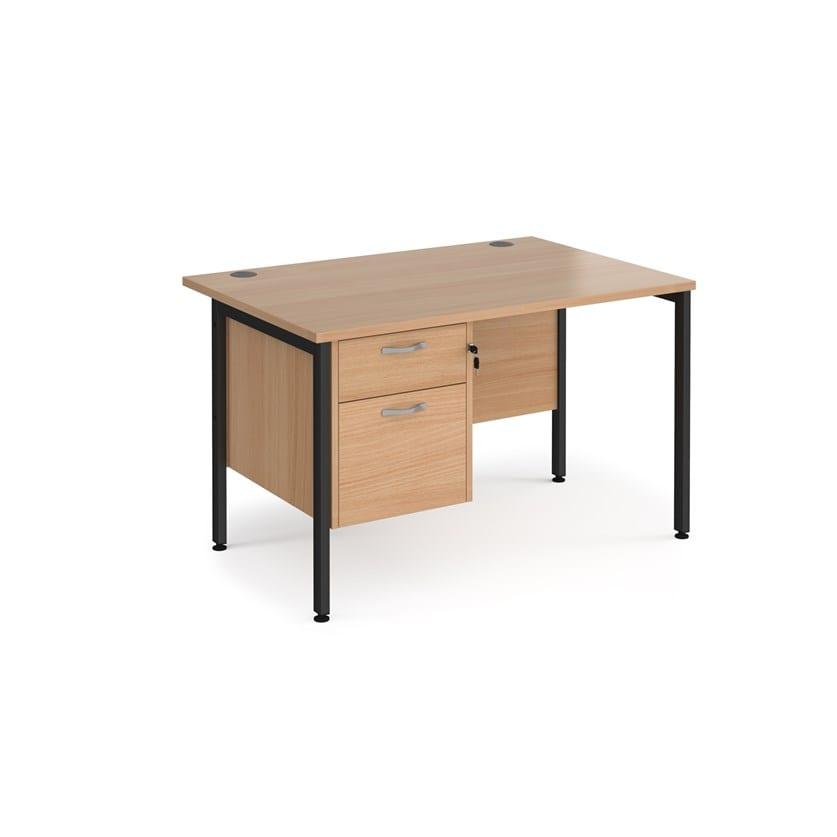 Staright Desk With 2 Drawer Pedestal 800